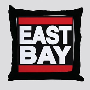 east bay red Throw Pillow