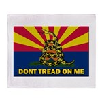 Arizona Dont Tread On Me Throw Blanket