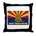 Arizona Dont Tread On Me Throw Pillow