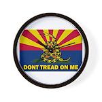 Arizona Dont Tread On Me Wall Clock