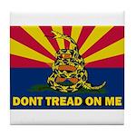 Arizona Dont Tread On Me Tile Coaster