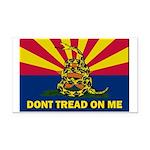 Arizona Dont Tread On Me Rectangle Car Magnet