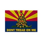 Arizona Dont Tread On Me Rectangle Magnet (10 pack