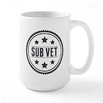 Sub Vet Badge Large Mug