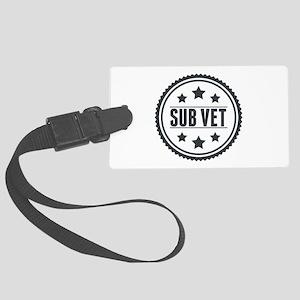 Sub Vet Badge Large Luggage Tag