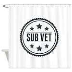 Sub Vet Badge Shower Curtain