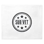 Sub Vet Badge King Duvet