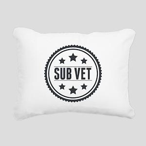 Sub Vet Badge Rectangular Canvas Pillow