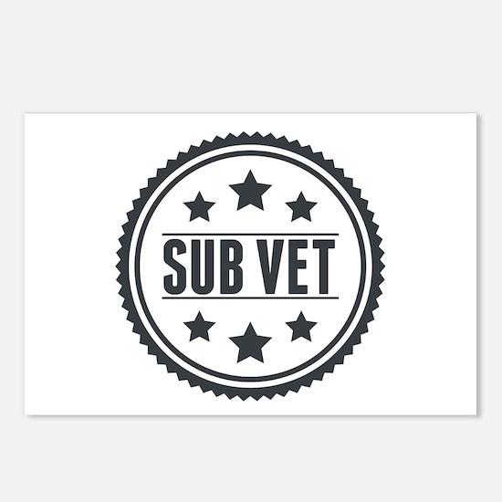 Sub Vet Badge Postcards (Package of 8)