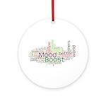 Mood Boost Fun Logo Ornament (Round)