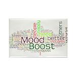 Mood Boost Fun Logo Rectangle Magnet