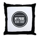 Pride Runs Deep Badge Throw Pillow