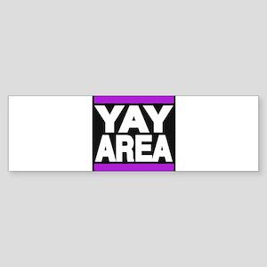yay area purple Bumper Sticker