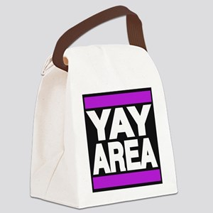 yay area purple Canvas Lunch Bag