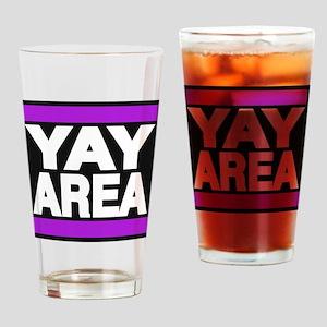 yay area purple Drinking Glass
