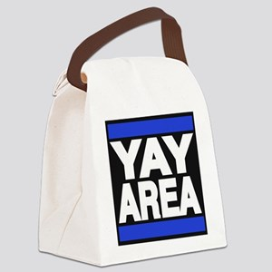 yay area blue Canvas Lunch Bag