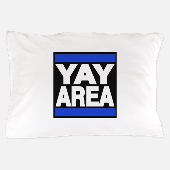 yay area blue Pillow Case