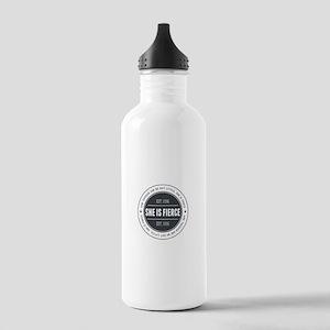 She is Fierce Badge Stainless Water Bottle 1.0L