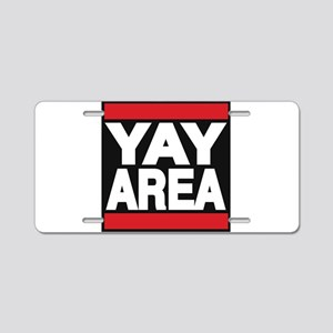 yay area red Aluminum License Plate