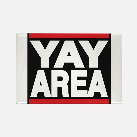 yay area red Rectangle Magnet (10 pack)