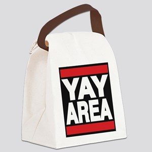 yay area red Canvas Lunch Bag