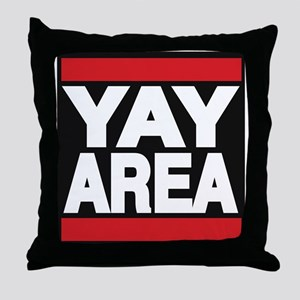 yay area red Throw Pillow