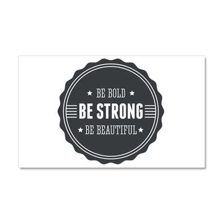 Bold, Strong, Beautiful Badge Car Magnet 20 x 12