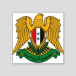 Syrian Coat of Arms Rectangle Sticker