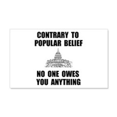 No One Owes You Wall Decal