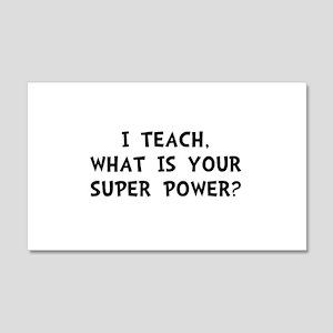 Teach Super Power Wall Decal
