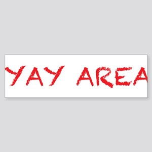 yay area4 red Bumper Sticker