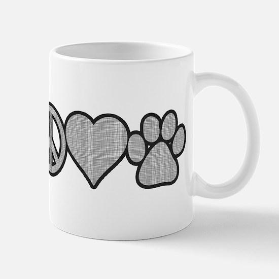 peace love paw Mug