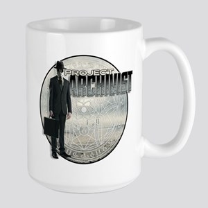 Project Archivist White T Large Mug