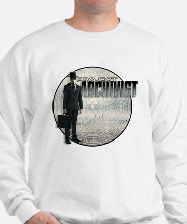 Project Archivist White T Sweatshirt