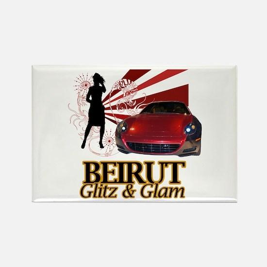 Beirut: Glitz & Glam Rectangle Magnet