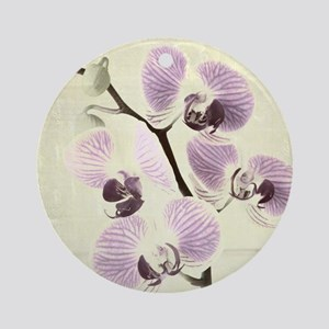 Light Orchids Ornament (Round)