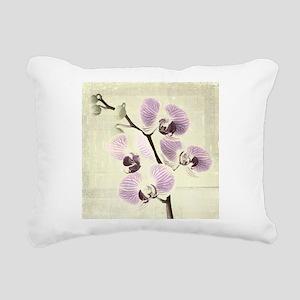 Light Orchids Rectangular Canvas Pillow