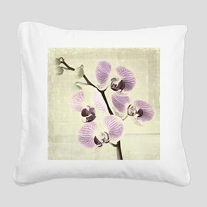 Light Orchids Square Canvas Pillow