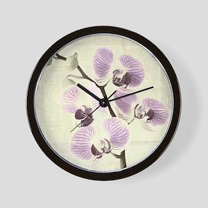 Light Orchids Wall Clock