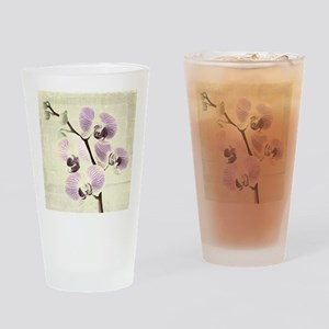 Light Orchids Drinking Glass