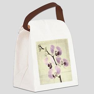 Light Orchids Canvas Lunch Bag
