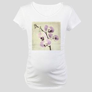 Light Orchids Maternity T-Shirt