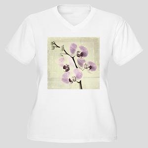 Light Orchids Plus Size T-Shirt