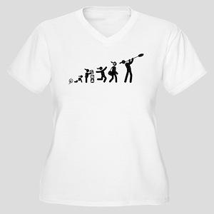 Glass Making Women's Plus Size V-Neck T-Shirt