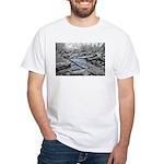 Halls Creek Blue White T-Shirt