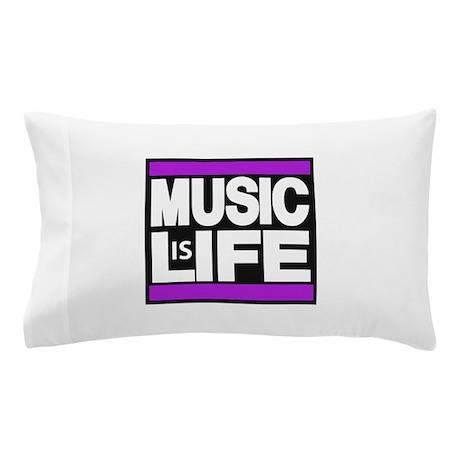 music life purple Pillow Case