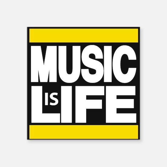 music life yellow Sticker