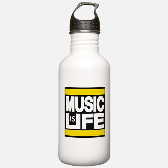 music life yellow Water Bottle