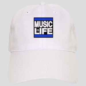 music life blue Baseball Cap
