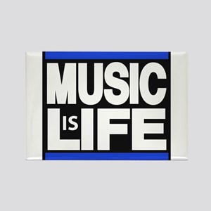 music life blue Rectangle Magnet
